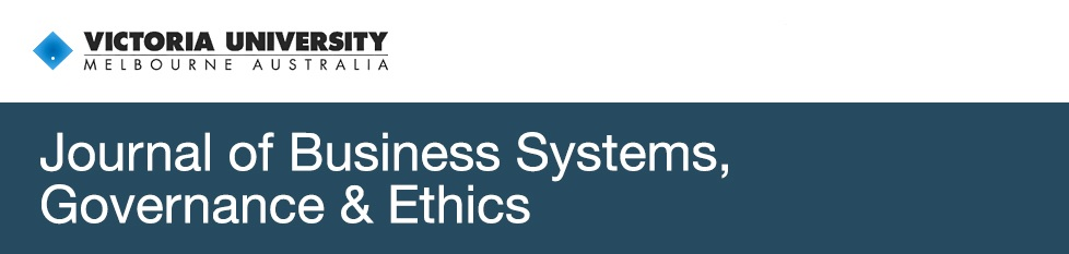 Journal of Business Systems, Governance & Ethics